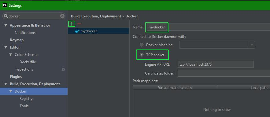 Working with PhpStorm and Docker on Windows