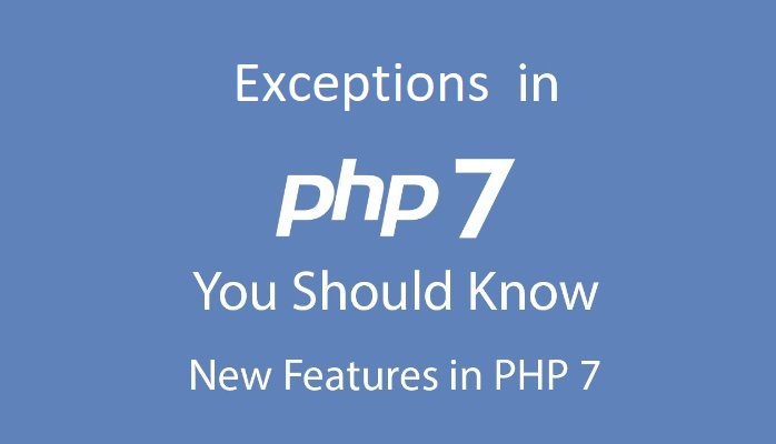 Exceptions in PHP7